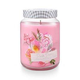XLG Candle Jar, Pink Peony