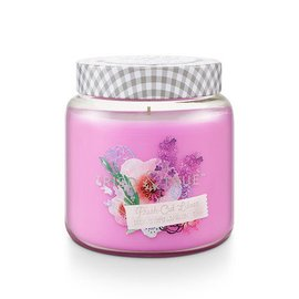 Lg Candle Jar, Fresh Cut Lilacs