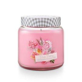 Lg Candle Jar, Pink Peony