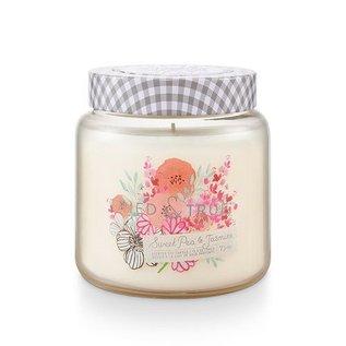 Lg Candle Jar, Sweet Pea & Jasmine