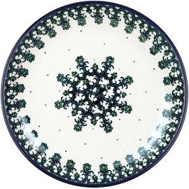Ceramika Artystyczna Dinner Plate Lacework Green