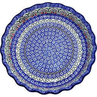 Ceramika Artystyczna Deep Pie Plate Stained Glass