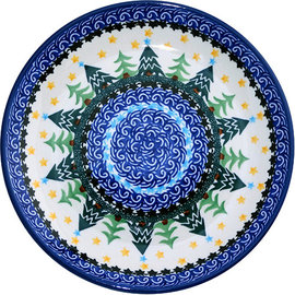 Ceramika Artystyczna Luncheon Plate Winter Forest WR