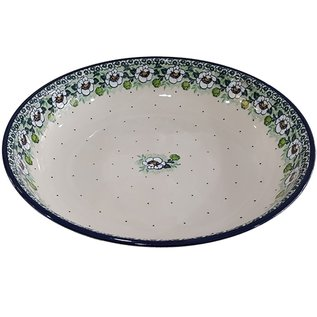 Ceramika Artystyczna Pasta Serving Bowl Magnolia Green