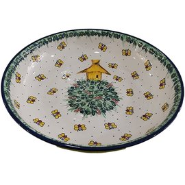Ceramika Artystyczna Pasta Serving Bowl Honey Bee Signature