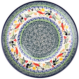 Ceramika Artystyczna Dinner Plate Mediterranean Peppers Signature 3.5