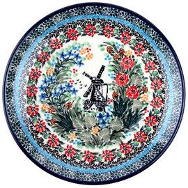 Ceramika Artystyczna Dinner Plate Dutch Windmill Signature
