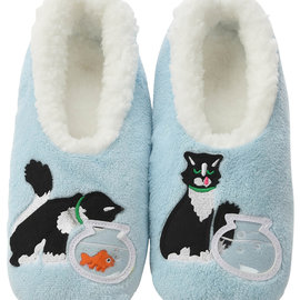 Snoozies Cat & Fishbowl Blue