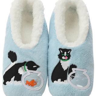 Snoozies Cat & Fishbowl Blue