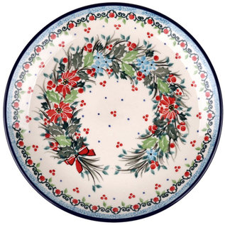 Ceramika Artystyczna Dinner Plate Winter Wreath Signature 3.5