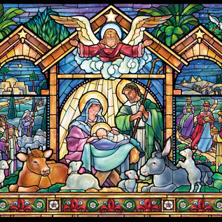 Puzzle Stained Glass Nativity