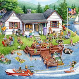 Puzzle Lake House