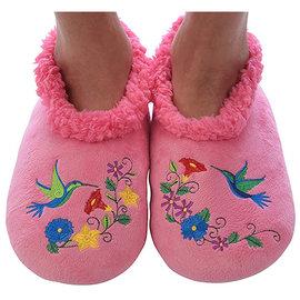 Snoozies Floral Hummingbird Pink XL