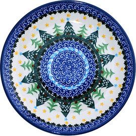 Ceramika Artystyczna Luncheon Plate Winter Forest