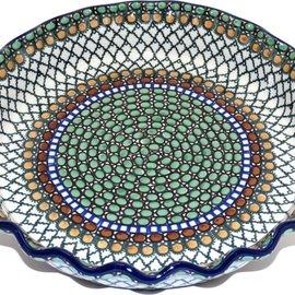 Ceramika Artystyczna Deep Pie Plate Geometric Hazel Signature
