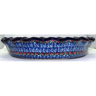 Ceramika Artystyczna Deep Pie Plate Iris Fields Signature