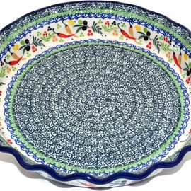 Ceramika Artystyczna Deep Pie Plate Mediterranean Peppers Signature 3.5