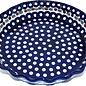 Ceramika Artystyczna Deep Pie Plate Royal Cranberry