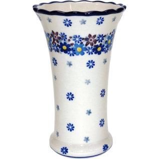 Ceramika Artystyczna Trumpet Vase Size 2 Blossom Blue