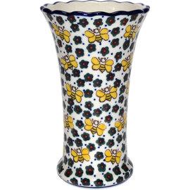 Ceramika Artystyczna Trumpet Vase Size 2 Busy Bees Signature