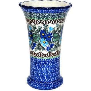 Ceramika Artystyczna Trumpet Vase Size 2 Forget Me Never Signature