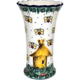 Ceramika Artystyczna Trumpet Vase Size 2 Honey Bee Signature