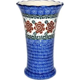 Ceramika Artystyczna Trumpet Vase Size 2 Lady Godiva Auburn