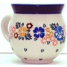 Ceramika Artystyczna Bubble Cup Small Pansy Garden