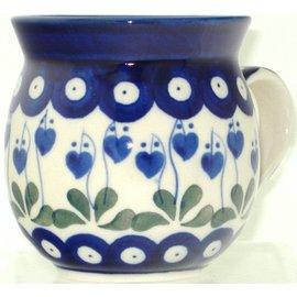 Ceramika Artystyczna Bubble Cup Small Royal Hanging Hearts