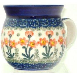 Ceramika Artystyczna Bubble Cup Small Poppies Orange