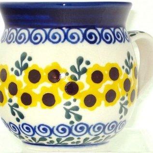Ceramika Artystyczna Bubble Cup Large Summer Sunflower