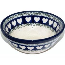 Ceramika Artystyczna Kitchen Bowl Size 1 Ring of Hearts