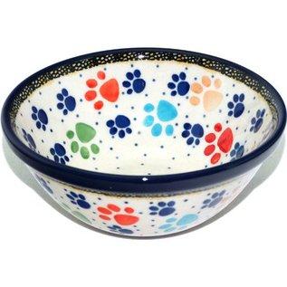 Ceramika Artystyczna Kitchen Bowl Size 1 Primary Paw Prints