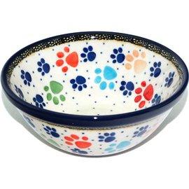 Ceramika Artystyczna Kitchen Bowl Size 2 Primary Paw Prints