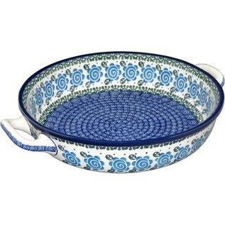 Ceramika Artystyczna Round Elegant Baker Size 3 Lady Godiva Blue