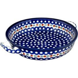 Ceramika Artystyczna Round Elegant Baker Size 3 Royal Cranberry