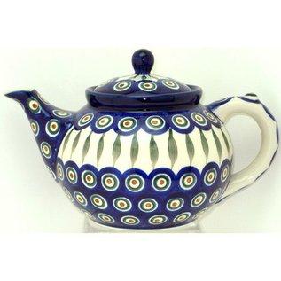 Ceramika Artystyczna Teapot Size 3 Royal Peacock