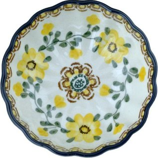 Ceramika Artystyczna Scalloped Bowl Size 1 Rose Yellow