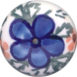 Ceramika Artystyczna Drawer Pull Apple Blossom Blue