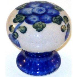 Ceramika Artystyczna Drawer Pull Blue Rose