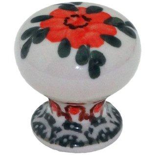 Ceramika Artystyczna Drawer Pull Rose Tangerine