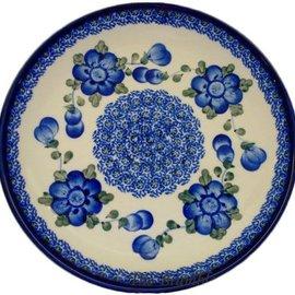 Ceramika Artystyczna Luncheon Plate Blue Rose