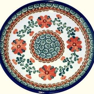 Ceramika Artystyczna Luncheon Plate Rose Tangerine