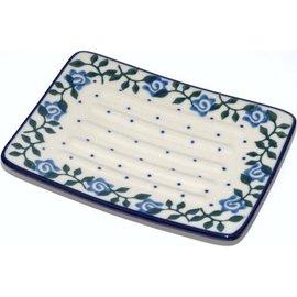 Ceramika Artystyczna Rectangular Soap Dish Antique Rose