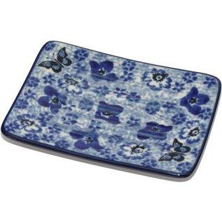Ceramika Artystyczna Rectangular Soap Dish Chintz Butterfly