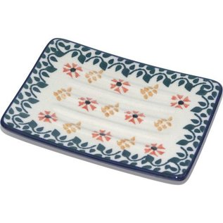Ceramika Artystyczna Rectangular Soap Dish Nasturtium