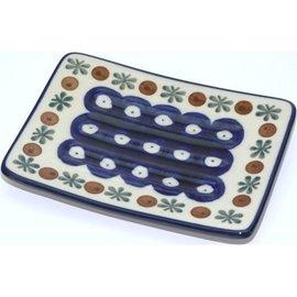 Ceramika Artystyczna Rectangular Soap Dish Royal Cranberry