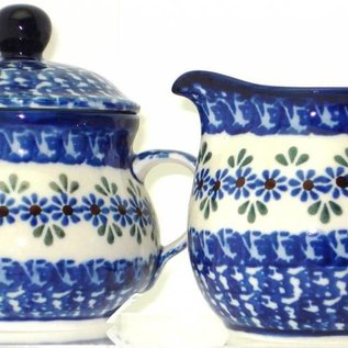 Ceramika Artystyczna Cream & Sugar Set Petit Point