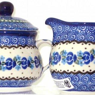 Ceramika Artystyczna Cream & Sugar Set Sweetheart Rose