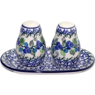 Ceramika Artystyczna Salt & Pepper Set Blueberry Vine